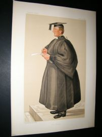 Vanity Fair Print 1885 Rev. Edmond Warre, Teacher